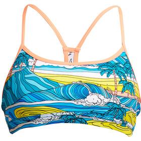 Funkita Eco Top kąpielowy Crop Kobiety, summer bay